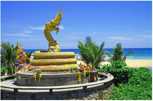 Karon Beach continues for a mile